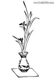 Vases With Flowers Vase With Flowers Coloring Pages Hellokids Com
