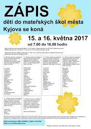 Jsouv by Mateřská škola Nádražní Kyjov Zápis 2017