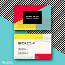 Kyani Business Cards Business Card Template Designs Pop Geometric Nova Donna