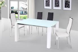 Glass Dining Table And 4 Chairs by Beauty Venture High Gloss Dining Table With Glass Top Options And