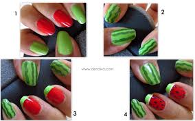 watermelon nail art tutorial step by step with pics u2013 dendiva