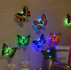 led 3d butterfly wall lights 10 pieces