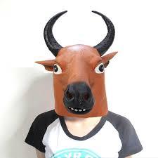 goat head halloween mask artificial latex buffalo mask halloween masquerade parties black