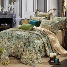 Olive Bedding Sets Olive Green And Gold Moroccan Style Tribal Paisley Print Abstract
