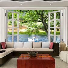 discount fake window wallpaper 2017 fake window wallpaper on