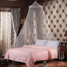 Lace Bed Canopy White Outdoor Summer Round Lace Insect Bed Canopy Netting Curtain
