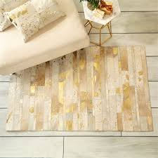 Rug Gold This Lovely Area Rug Is Made With Real Cowhide With A Metallic