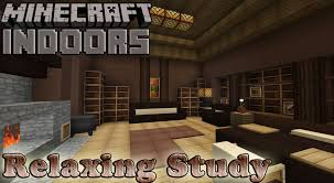relaxed study minecraft indoors interior design youtube