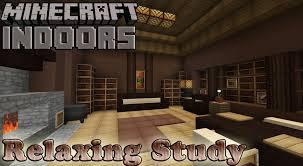 Minecraft Interior Design Relaxed Study Minecraft Indoors Interior Design Youtube