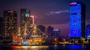 shanghai china wallpapers china shanghai huangpu river boat lighting mirror reflection