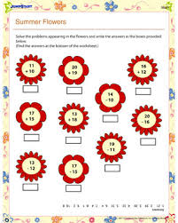 summer flowers math u2013 free 1st grade math worksheet u2013 jumpstart