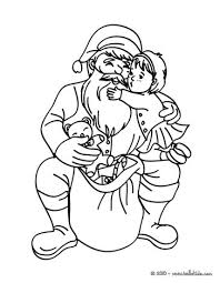 santa reading christmas gift letters coloring pages hellokids
