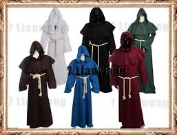 halloween cosplay medieval friar costume vintage renaissance