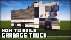 minecraft dump truck minecraft how to make garbage truck youtube