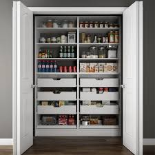 pantry organizers modifi 60 in w x 15 in d x 84 in h dual wood pantry combination