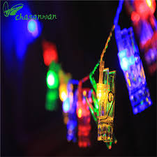 led new years 1 2m 10 led new year decoration photo folder clip string lights
