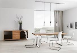 dining room sets contemporary black finished armless chairs white