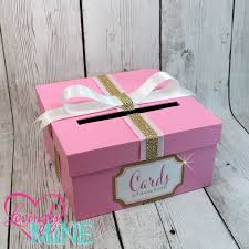 card holder box with sign in pink gold u0026 white gift money