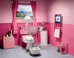 Beautiful Pink Teenage Bathroom Design By Aquaplus  Girls - Girls bathroom design