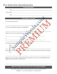 survey form waste product survey template example format download
