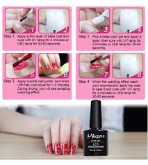 mixcoco uv nail gel crackle gel polish led uv gel nail polish
