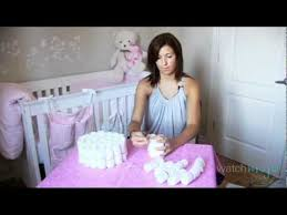 Step By Step Instructions To Make A Diaper Cake Youtube