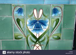 art deco tiles on the exterior of a shop in cavendish circus in