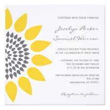 Sunflower Wedding Invitations Personalized Sunflower Wedding Invitations Custominvitations4u Com