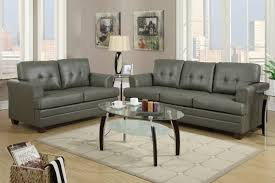 Leather Livingroom Sets Grey Leather Sofa And Loveseat Set Steal A Sofa Furniture Outlet