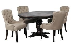 living spaces dining table set jefferson 5 piece extension round dining set brown round dining