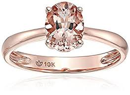 gold engagement rings uk limited time sale 1 carat morganite oval cut morganite solitaire