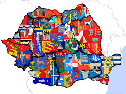Map Of Romania Map Or Romania U0027s Historic Regions And Each County U0027s Coat Of Arms