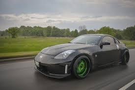 matte blue nissan 350z peculiar black nissan 350z rocking green avant garde wheels