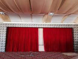 Decorative Curtains Red Velvet Motorized Stage Decorative Curtain Electric Stage