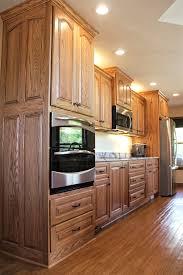 oak kitchen cabinets pictures custom oak kitchen with cambria quartz conneaut lake