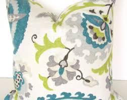 Home Decor Throw Pillows Turquoise Pillows Teal Pillows Blue Throw Pillow Covers