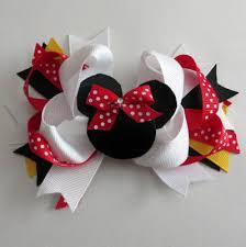 hair bows minnie mouse inspired hair bow
