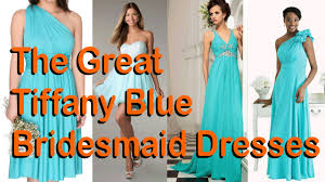 the great tiffany blue bridesmaid dresses youtube