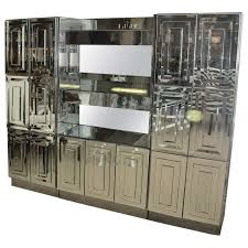 Mirrored Bar Cabinet Spectacular Mid Century Mirrored Dry Bar By Ello At 1stdibs