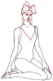 3 draw the scarf and face how to draw a woman in a bathing suit