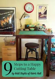happy rooms fabric mutt 9 steps to a happy cutting table