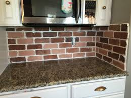 faux brick kitchen backsplash kitchen trend colors awesome faux brick backsplash tile image