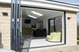 Bifold Patio Doors Patio Accordion Patio Door With Green High Bar Patio Chairs And