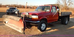 Ford F350 Dump Truck With Plow - 1997 ford f350 xl flatbed dump truck item k7296 sold fe