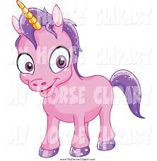 royalty free stock horse designs of purple unicorns