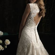 vintage chic open back lace modified mermaid lace on tulle wedding