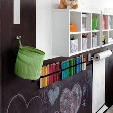 kids room decor with unique chalkboard decoration and pretty wall