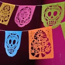 dia de los muertos decorations papel picado banner decorations day of the dead dia