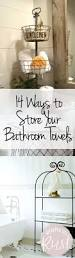 Towel Storage Ideas For Small Bathrooms by Best 25 Decorative Bathroom Towels Ideas Only On Pinterest