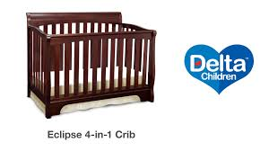 delta convertible crib toddler rail delta children u0027s eclipse crib vignette youtube